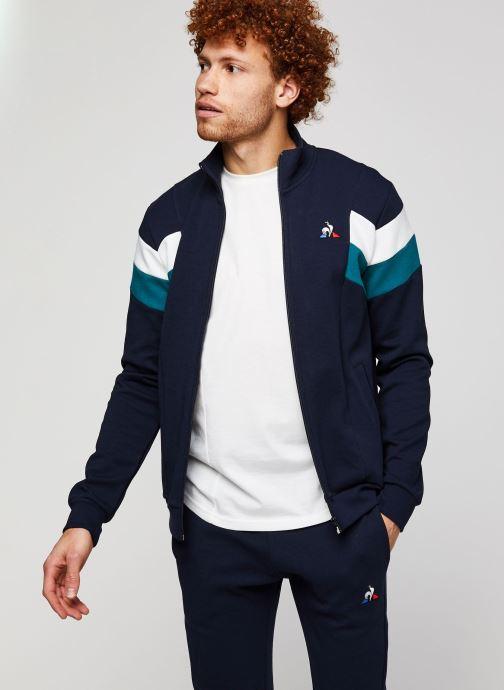 Vêtements Le Coq Sportif Chevron Fz Sweat N°1 M Bleu vue détail/paire