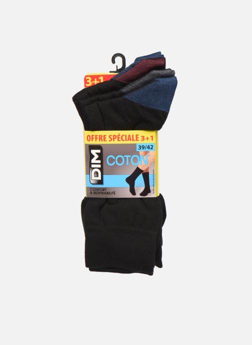 Calze e collant Dim Chaussette Coton Mix & Match Lot de 4 Nero modello indossato
