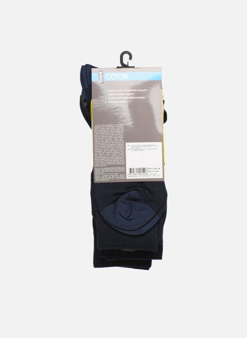 Calze e collant Dim Chaussette Coton Mix & Match Lot de 4 Azzurro modello indossato