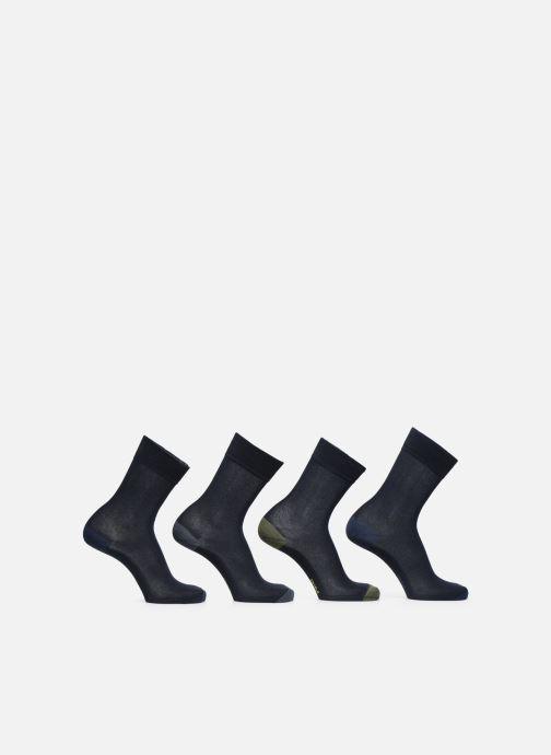 Sokken en panty's Dim Chaussette Coton Mix & Match Lot de 4 Blauw voorkant