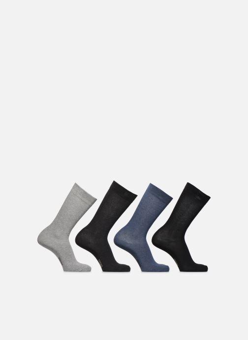 Sokken en panty's Dim Mi-Chaussette Classique Coton Lot de 4 Zwart detail