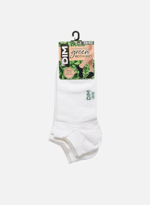 Socks & tights Dim Socquettes Courtes Green X2 White model view