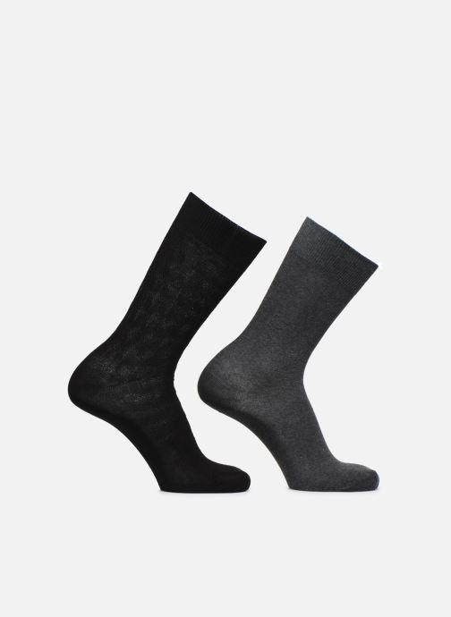 Sokken en panty's Dim Mi-Chaussette Coton Style Cubes X2 Zwart detail
