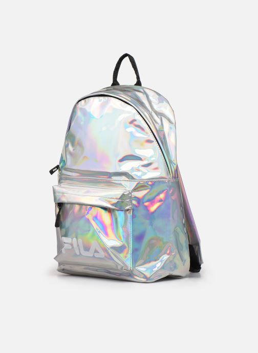 Sacs à dos FILA New Backpack S'Cool Holo Holographic fabric Multicolore vue portées chaussures