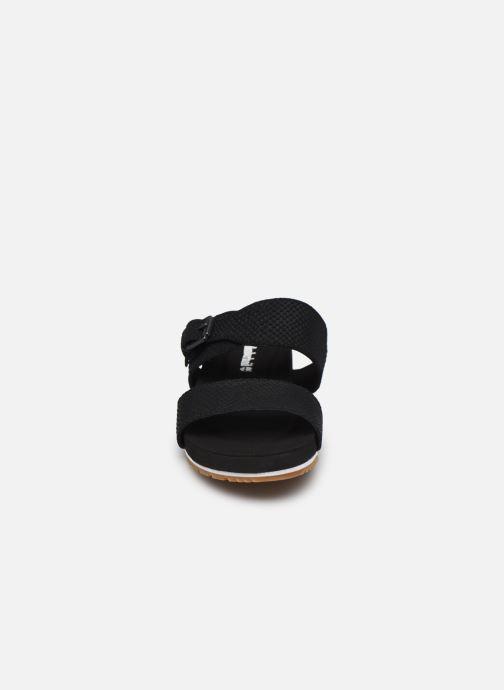Clogs & Pantoletten Timberland Malibu Waves 2Band Slide schwarz schuhe getragen