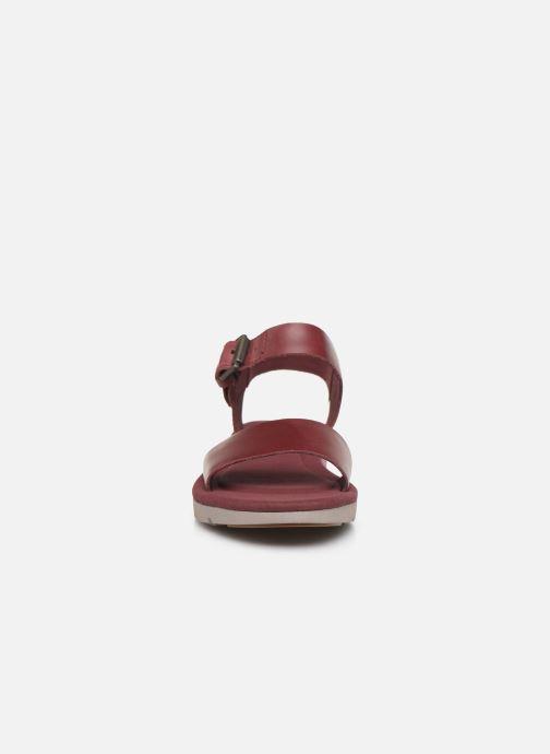 Sandales et nu-pieds Timberland Lottie Lou 1-Band Sandal Bordeaux vue portées chaussures