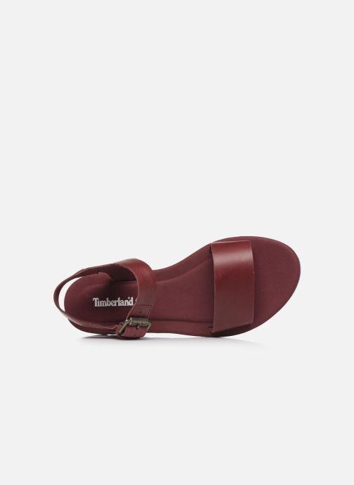 Sandales et nu-pieds Timberland Lottie Lou 1-Band Sandal Bordeaux vue gauche