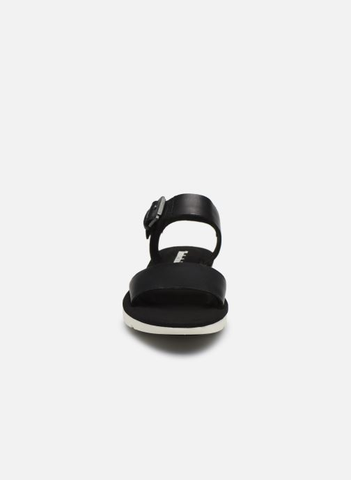 Sandali e scarpe aperte Timberland Lottie Lou 1-Band Sandal Nero modello indossato