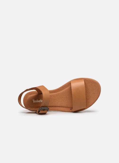 Sandals Timberland Lottie Lou 1-Band Sandal Brown view from the left