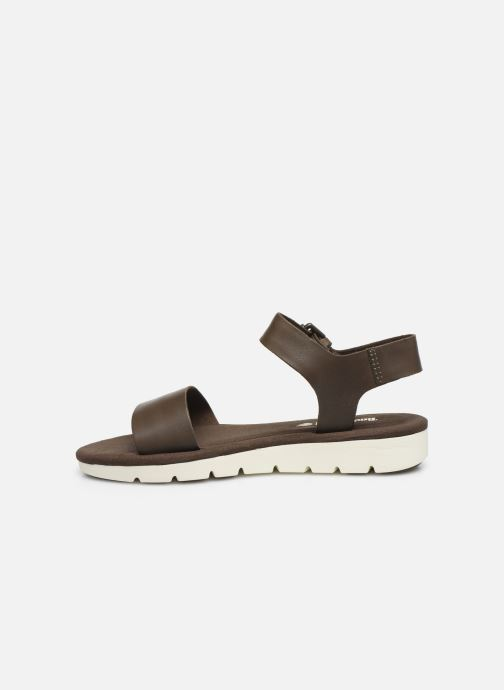Sandales et nu-pieds Timberland Lottie Lou 1-Band Sandal Marron vue face