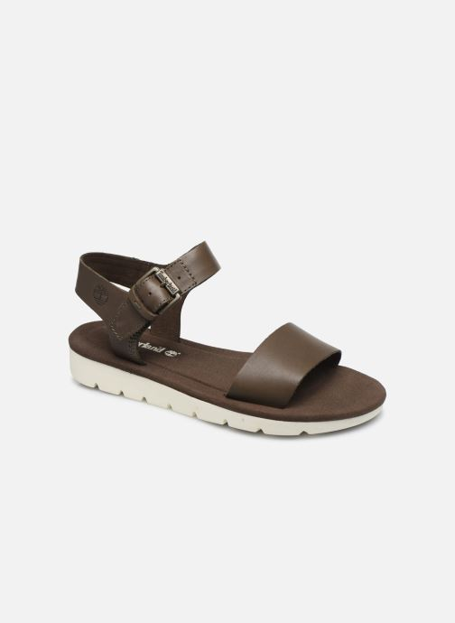 Sandals Timberland Lottie Lou 1-Band Sandal Brown detailed view/ Pair view