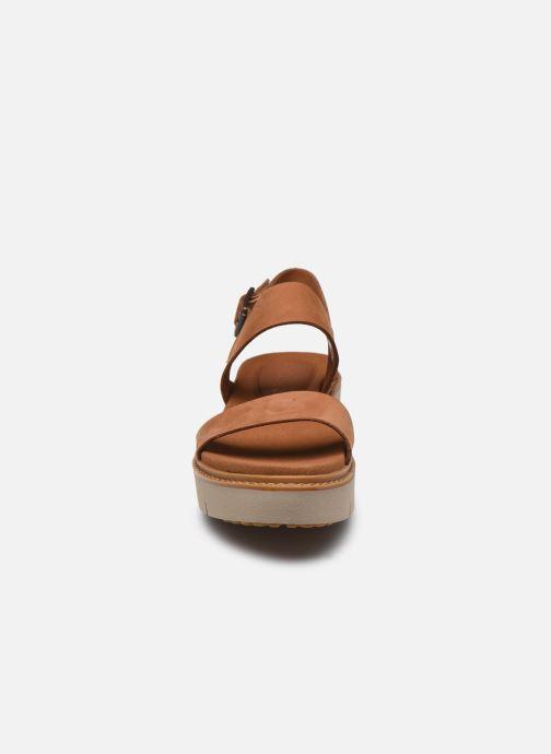 Sandales et nu-pieds Timberland Safari Dawn 2Band Marron vue portées chaussures