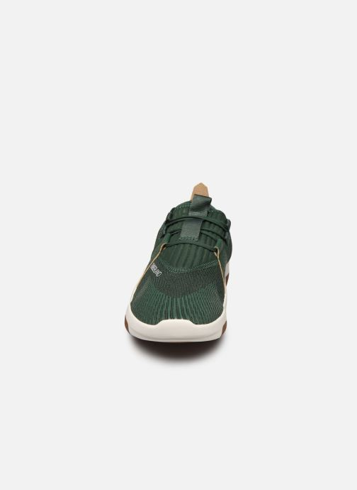 Sneakers Timberland Earth Rally Flexiknit Ox Verde modello indossato