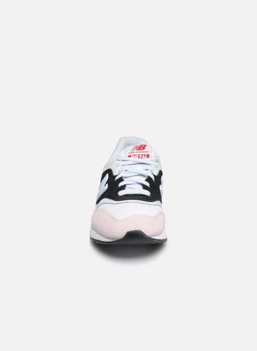 Baskets New Balance W997 - HOLLYSIZ Rose vue portées chaussures