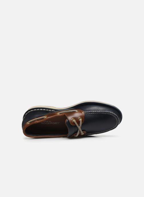 Zapatos con cordones Rockport Ports Of Call C Azul vista lateral izquierda