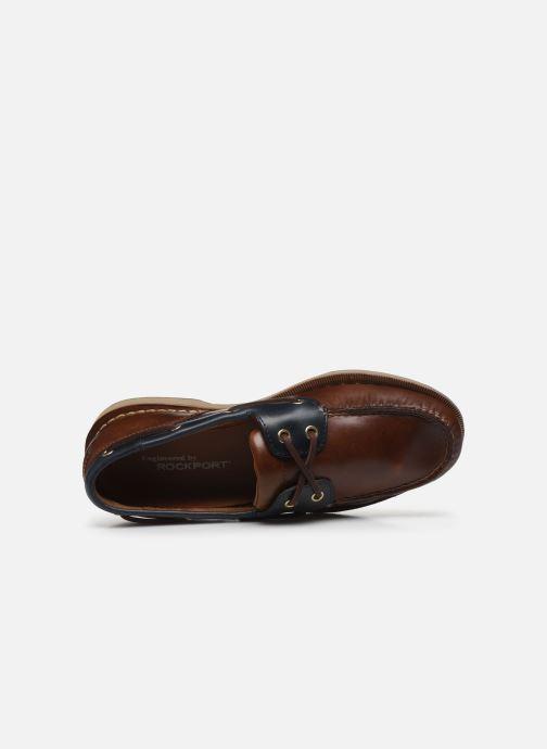 Zapatos con cordones Rockport Ports Of Call C Marrón vista lateral izquierda