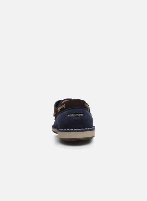 Zapatos con cordones Rockport Ports Of Call C Azul vista lateral derecha