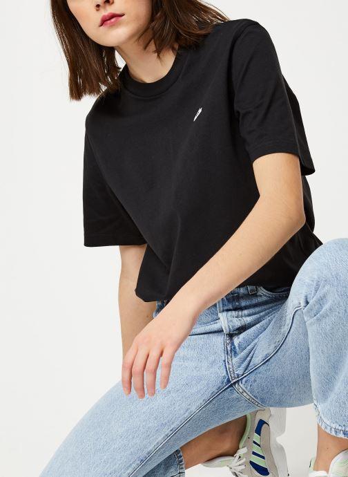 Vêtements adidas originals Shoe Logo T shirt W Noir vue détail/paire