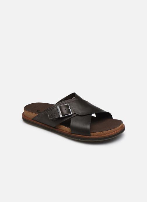 Sandales et nu-pieds Timberland Amalfi Vibes Cross Slide Marron vue détail/paire