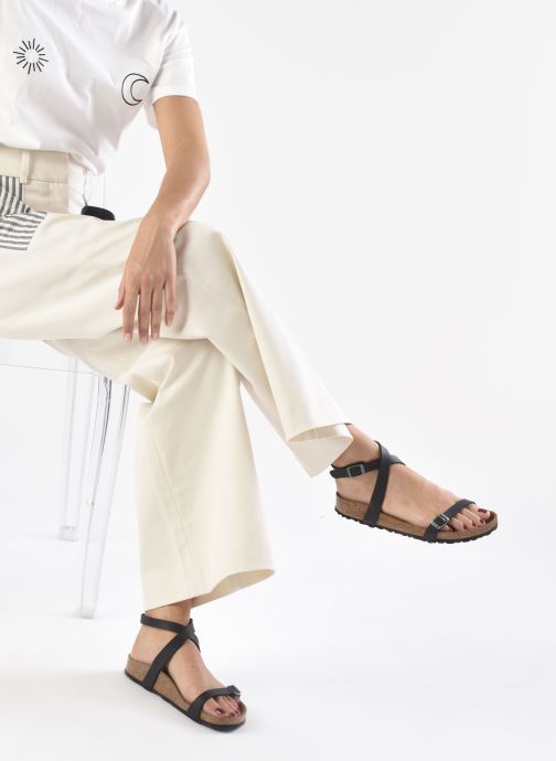 Sandales et nu-pieds Birkenstock Daloa Flor W Noir vue bas / vue portée sac
