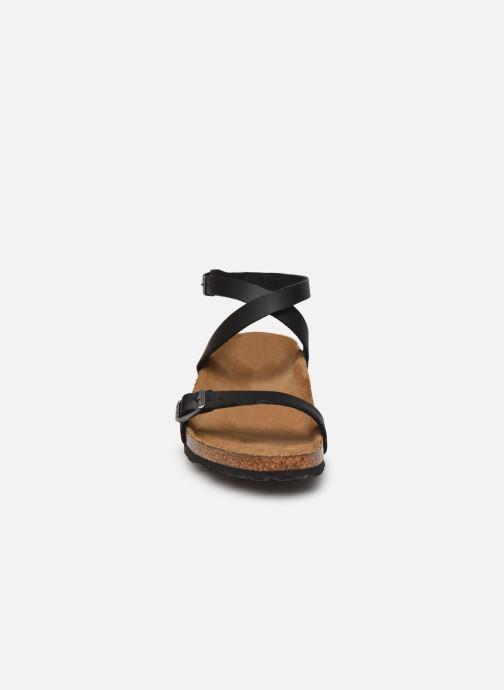 Sandales et nu-pieds Birkenstock Daloa Flor W Noir vue portées chaussures