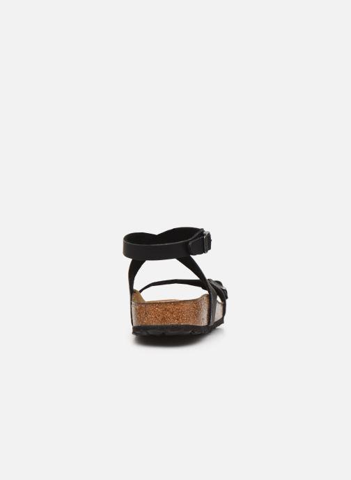 Sandales et nu-pieds Birkenstock Daloa Flor W Noir vue droite