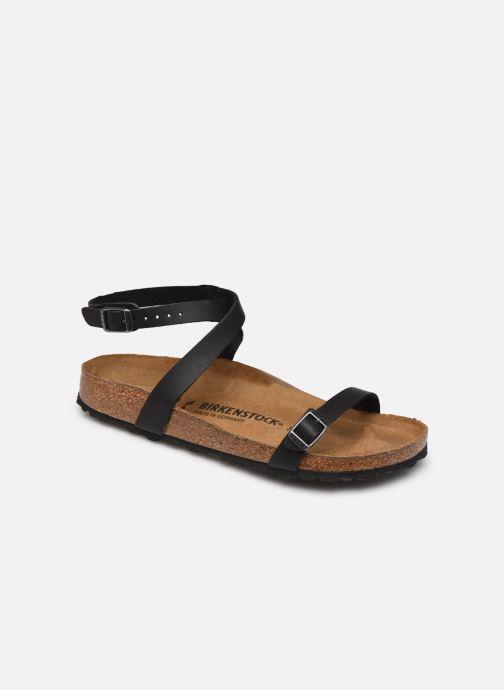 Sandales et nu-pieds Birkenstock Daloa Flor W Noir vue détail/paire
