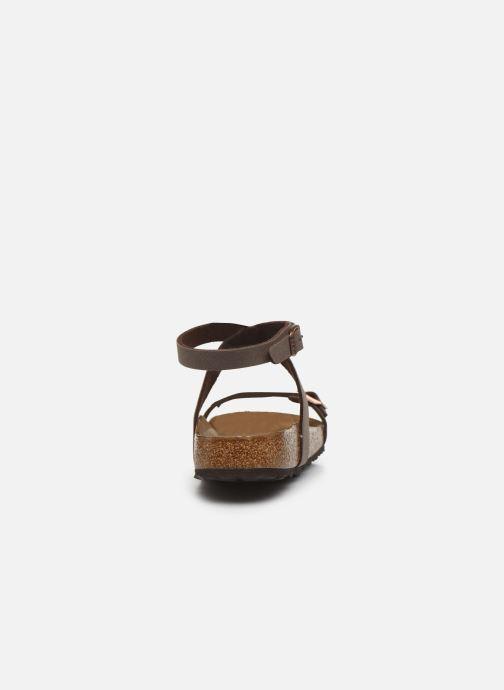 Sandali e scarpe aperte Birkenstock Daloa Flor W Marrone immagine destra