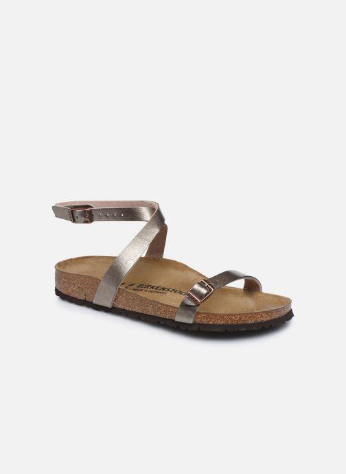 Sandales et nu-pieds Birkenstock Daloa Flor W Beige vue détail/paire