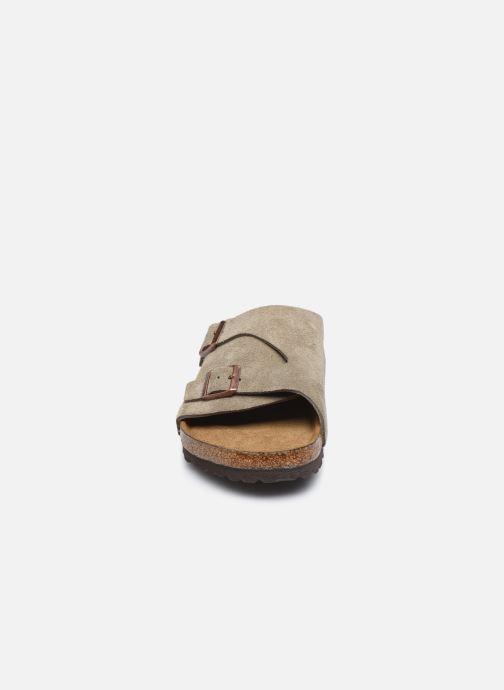 Sandalen Birkenstock Zurich Sfb Cuir M braun schuhe getragen