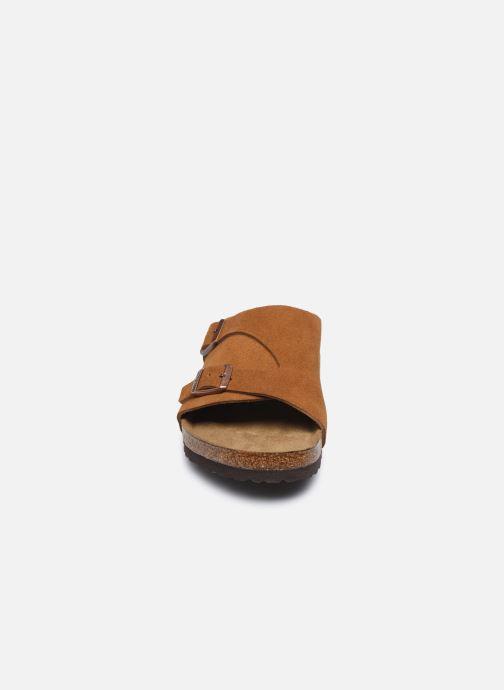 Sandales et nu-pieds Birkenstock Zurich Sfb Cuir M Marron vue portées chaussures