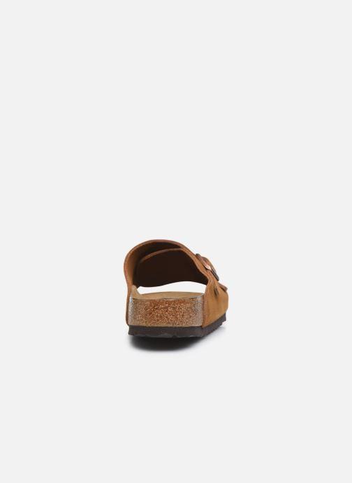 Sandales et nu-pieds Birkenstock Zurich Sfb Cuir M Marron vue droite