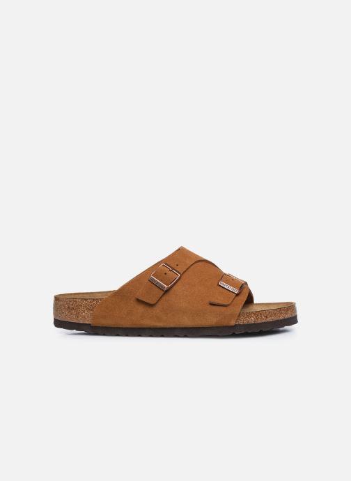 Sandales et nu-pieds Birkenstock Zurich Sfb Cuir M Marron vue derrière