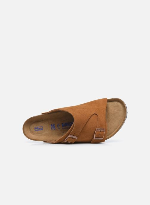 Sandales et nu-pieds Birkenstock Zurich Sfb Cuir M Marron vue gauche