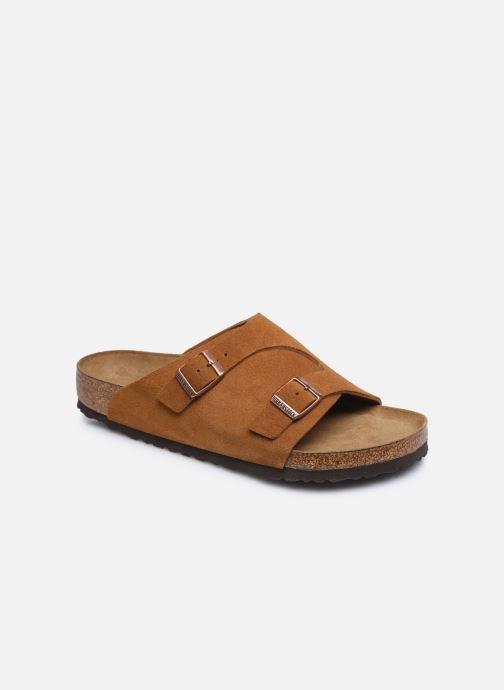 Sandales et nu-pieds Birkenstock Zurich Sfb Cuir M Marron vue détail/paire