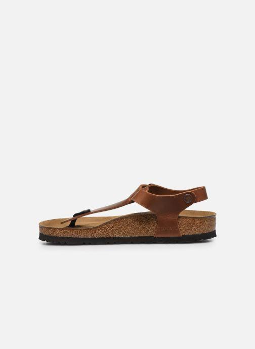 Sandales et nu-pieds Birkenstock Kairo Cuir W Marron vue face