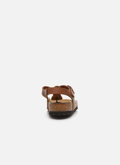 Sandali e scarpe aperte Birkenstock Kairo Cuir W Marrone immagine destra