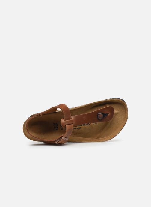 Sandales et nu-pieds Birkenstock Kairo Cuir W Marron vue gauche