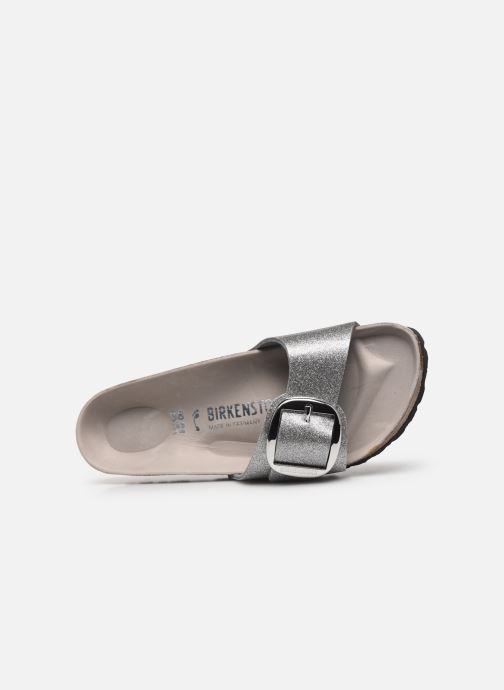 Clogs & Pantoletten Birkenstock Madrid Big Buckle Flor W silber ansicht von links