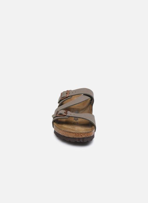 Mules et sabots Birkenstock Salina Flor W Marron vue portées chaussures