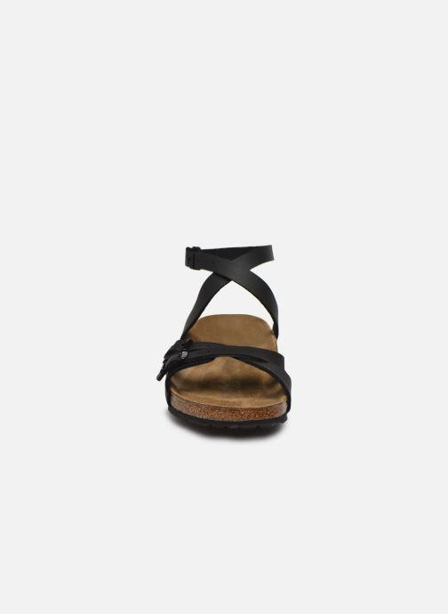 Sandales et nu-pieds Birkenstock Blanca Flor W Noir vue portées chaussures