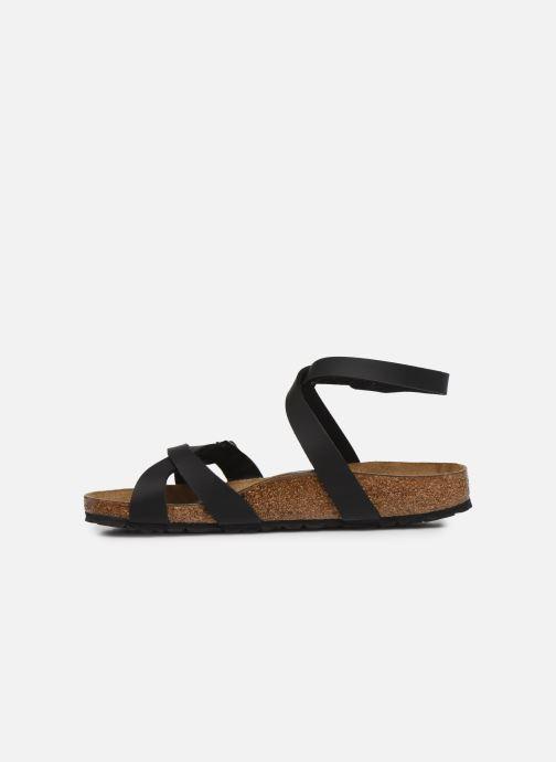 Sandales et nu-pieds Birkenstock Blanca Flor W Noir vue face