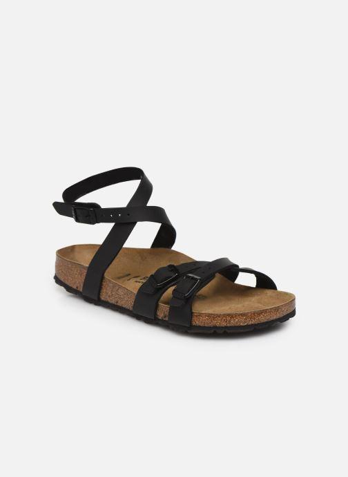 Sandales et nu-pieds Birkenstock Blanca Flor W Noir vue détail/paire