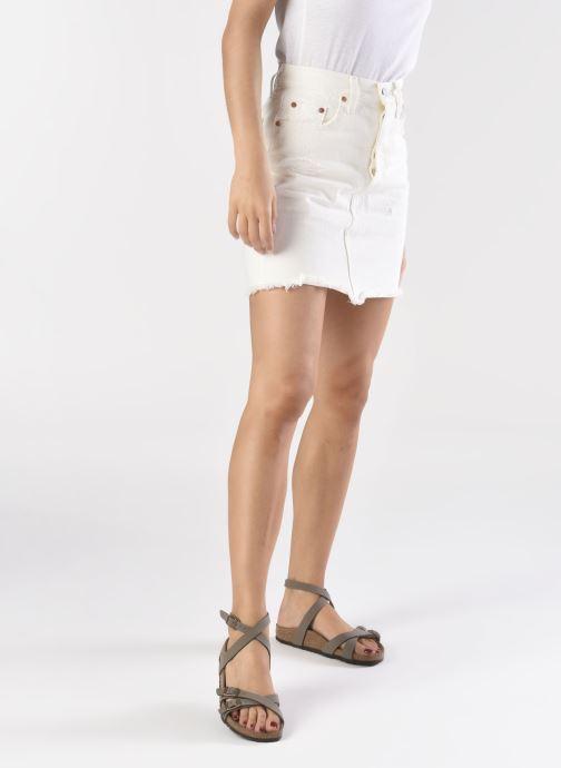 Sandales et nu-pieds Birkenstock Blanca Flor W Gris vue bas / vue portée sac
