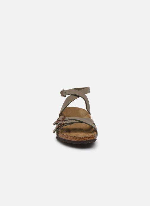 Sandales et nu-pieds Birkenstock Blanca Flor W Gris vue portées chaussures