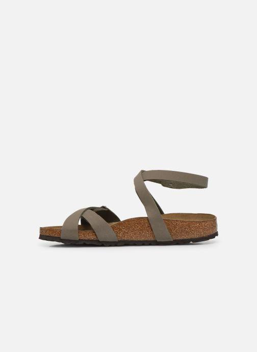 Sandales et nu-pieds Birkenstock Blanca Flor W Gris vue face