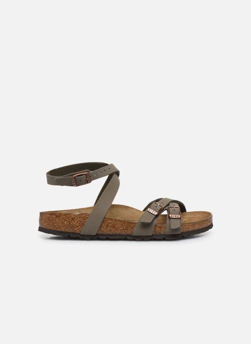 Sandales et nu-pieds Birkenstock Blanca Flor W Gris vue derrière