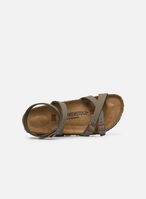 Sandales et nu-pieds Birkenstock Blanca Flor W Gris vue gauche