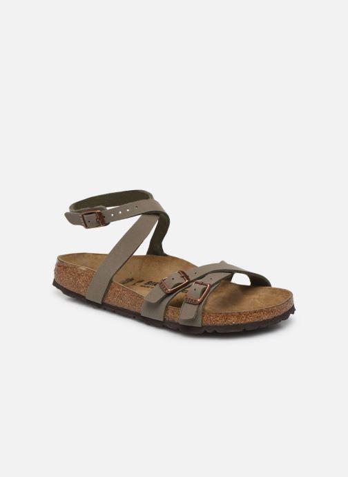 Sandales et nu-pieds Birkenstock Blanca Flor W Gris vue détail/paire
