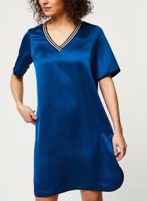 Ribbed v-neck dress with bindings